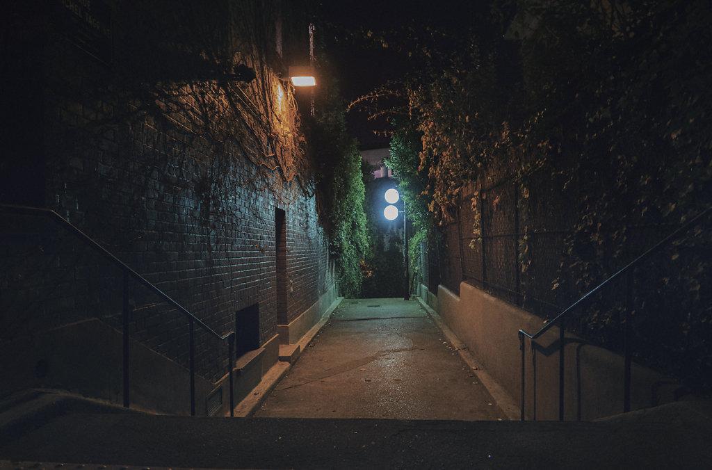 Les escaliers des Buttes Bergeyre