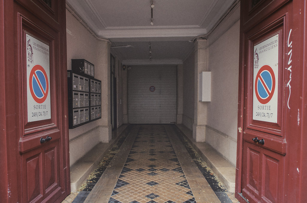 L'entrée d'immeuble