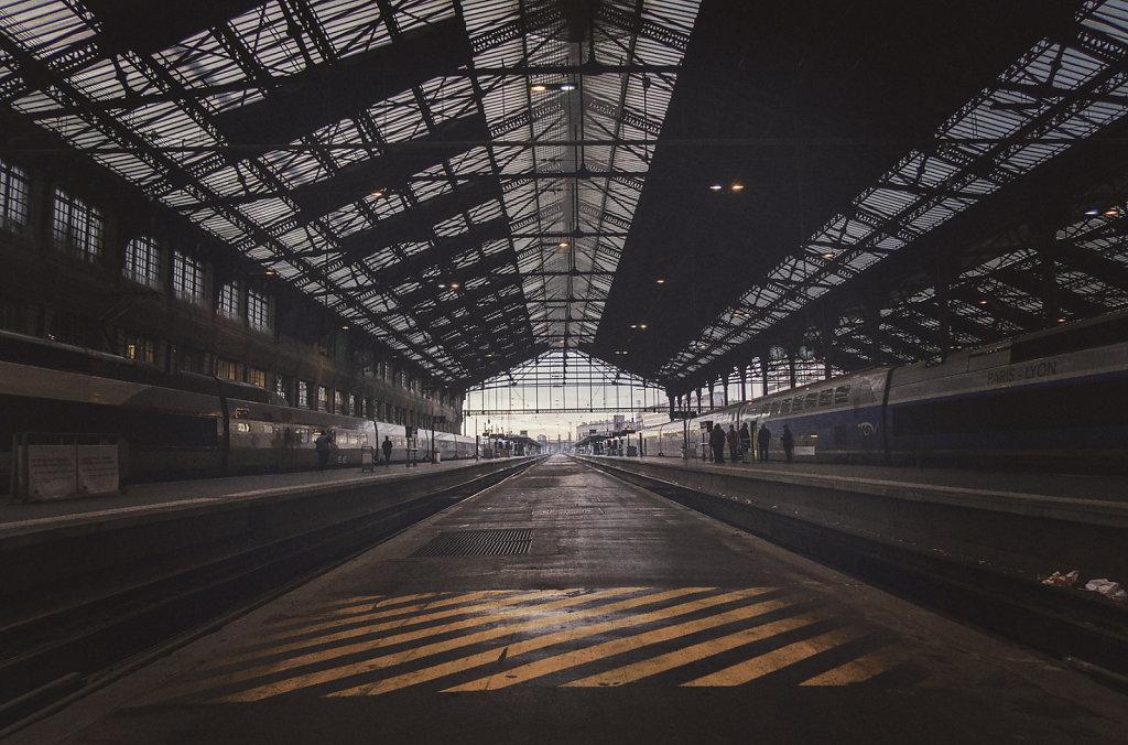 Dans la gare de Lyon